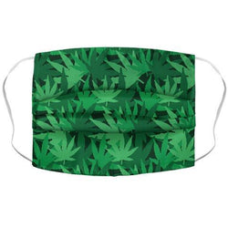 Pot Leaf Pile Pattern Face Mask Cover