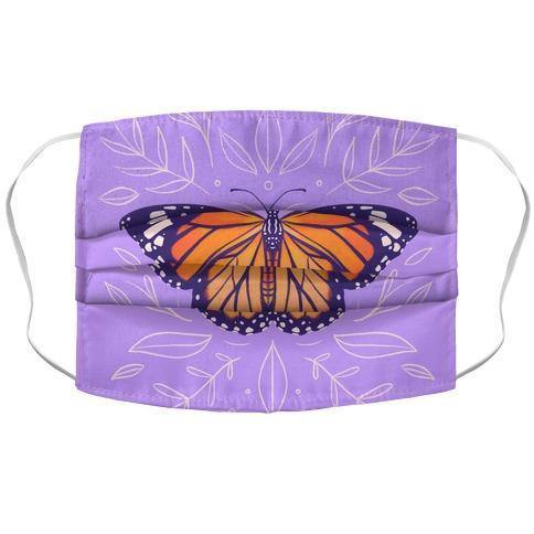 Purple Solo Monarch Face Mask Cover Flower Power Packages