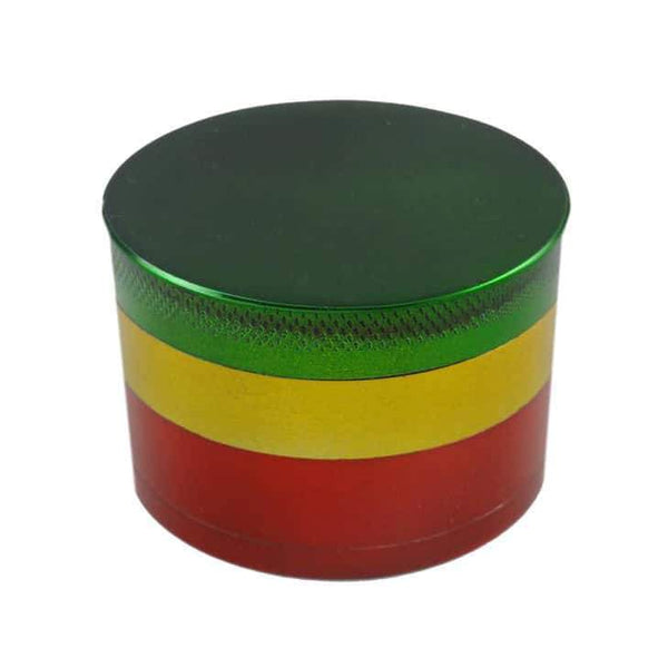 Rasta Grinder- 4 Part Grinder-1ct (Available in Multiple Sizes) Flower Power Packages 32MM