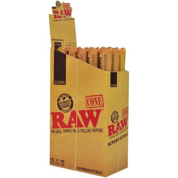 Raw Cone Supernatural Size 15pack (1 Count)