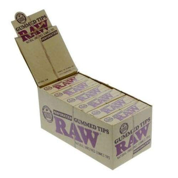 Raw Gummed Tips Perforated 24 Count