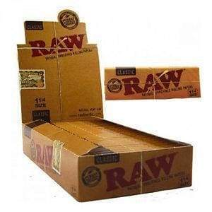 Raw Natural Classic 1 1/4 Size Rolling Papers (24 Count)