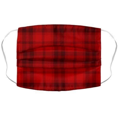 Red Plaid Face Mask Cover Flower Power Packages