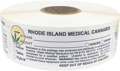 Rhode Island Medical Cannabis Warning Labels at Flower Power Packages