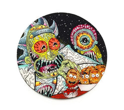 Round Dab Mat - Slimy Meal