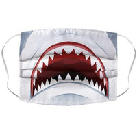 Shark Mouth Face Mask Cover Flower Power Packages
