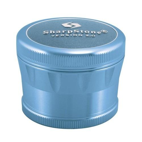 Sharpstone� V2 Hard Top Grinder Flower Power Packages Blue 2.5""
