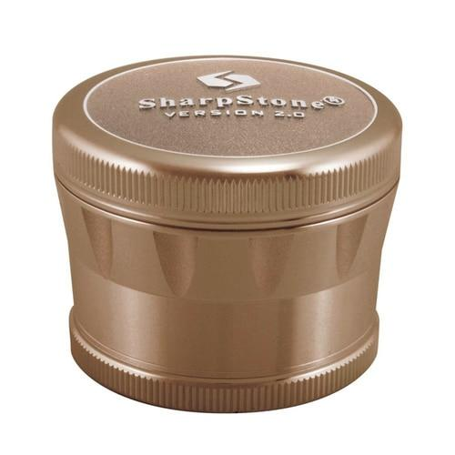 Sharpstone� V2 Hard Top Grinder Flower Power Packages Brown 2.5""