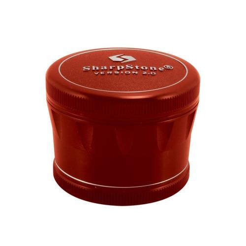 Sharpstone� V2 Hard Top Grinder Flower Power Packages Red 2.5""