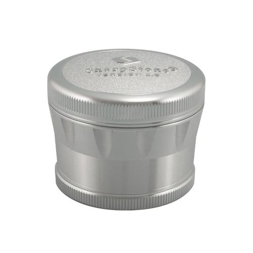Sharpstone� V2 Hard Top Grinder Flower Power Packages Silver 2.5""