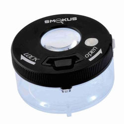Smokus Focus Jetpack Jar with Light - Rechargeable with Magnifying Display - (Black or White)