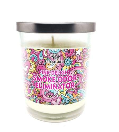 Special Blue Odor Eliminator Candle -Pink Delight Flower Power Packages