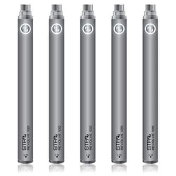 STR8 5 Pack STR8 Battery Revolve 1100 Evod Silver