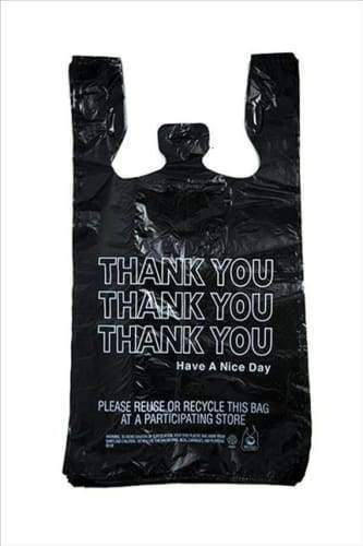 Thank You Bags - Black - 1/6 (650 Count) Flower Power Packages