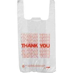 Thank You Bags - White - 1/6 (700 Count)