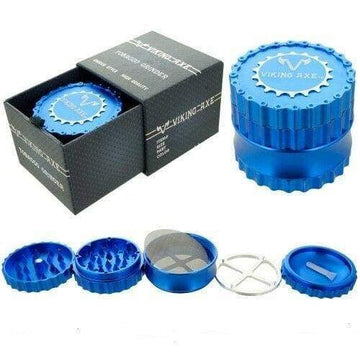 Viking Axe 4-Layer Herb Grinder 63mm (Available in Red, Blue, Green, Silver and Black)