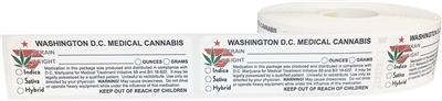 Washington D.C. Medical Cannabis Warning Labels Flower Power Packages