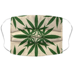 Weed Pattern Face Mask Cover