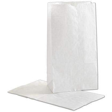 White Kraft Bags 6 x 3 5/8 x 11 1/16 (500 Count)