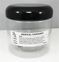 Writable Generic Medical Warning Cannabis Labels at Flower Power Packages