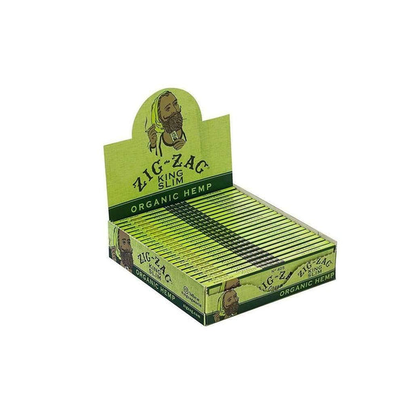 Zig Zag King Slim Organic Hemp Rolling Paper 24 Count Display - Zig Zag  at Flower Power Packages