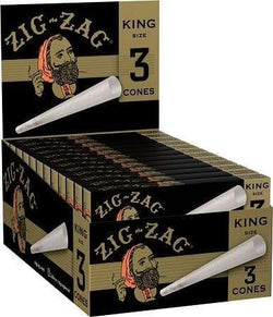 Zig Zag (Paper Cones) King Size (24 Count) 3/Pack