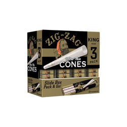 Zig Zag Promo Display (36 Pack Per Display) 3 Cones Per pack - King Size Cones  (1 Count)
