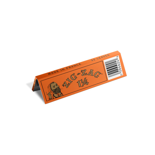 Zig Zag Promo Display (48 Pack) - 1 1/4 French Orange Rolling Papers (1 Count) Flower Power Packages