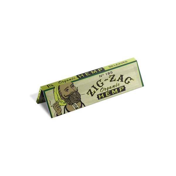Zig Zag Promo Display (48 Pack) - 1 1/4 Organic Hemp Papers (1 Count) Flower Power Packages