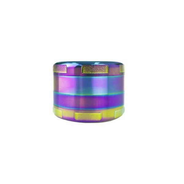 Zink Rainbow Grinder – 3 STAGE – (1 Count) Flower Power Packages