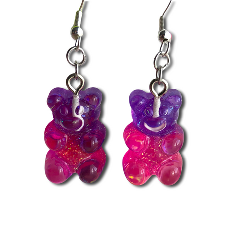 The Two Tone Gummy Bear Earrings