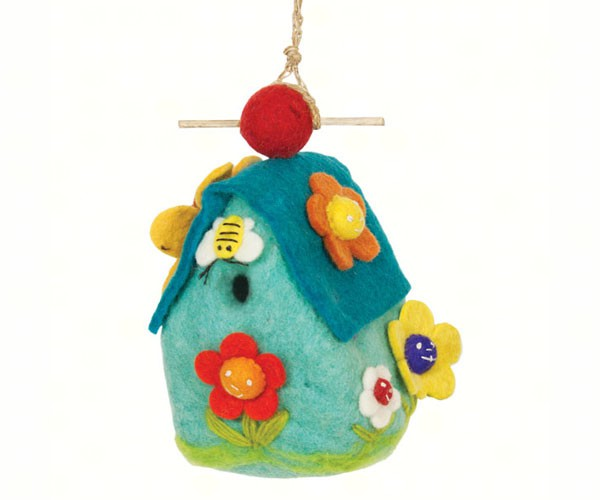 Smiling Flowers Birdhouse