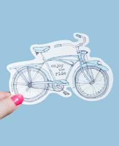 Enjoy the Ride Bike Sticker