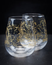 Load image into Gallery viewer, Night Sky Wine Glasses (Pair)  Northern