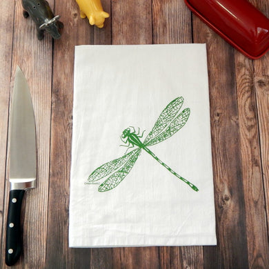 Dragonfly - Green Towel