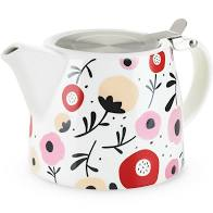Harper Ceramic Teapot & Infuser In Posy Pattern