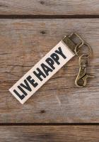 Canvas Key Fob Live Happy