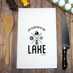 Lake - Black Towel