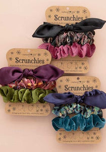 Scrunchies S/3 Black Bow