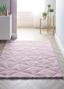 3D Triangle Collection Pink luxurious rug
