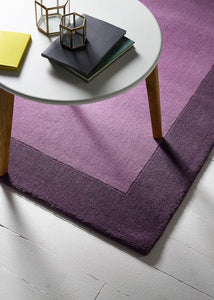 Fine Stripes Collection Mauve luxurious rug