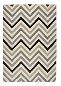 Cabone Collection Grey luxurious rug