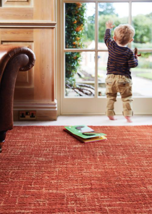 Country Tweed Collection Burnt Sienna luxurious rug