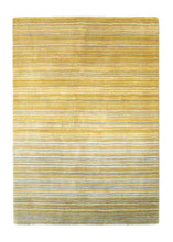 Fine Stripes Collection Ochre luxurious rug