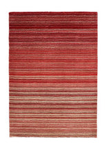 Fine Stripes Collection Red luxurious rug