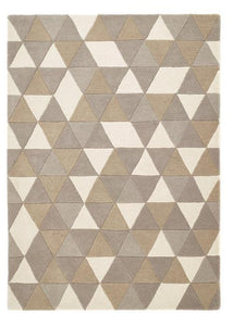 Honeycomb Collection Natural luxurious rug