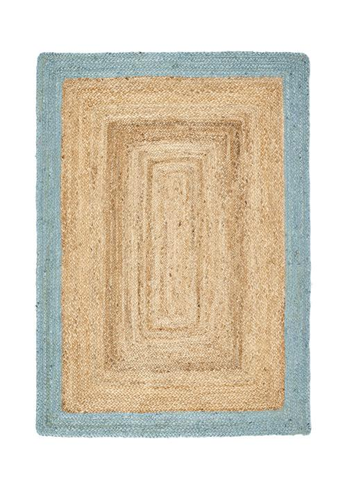 Jute Border Collection Duck Egg luxurious rug