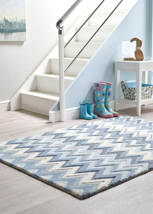 Monaco Collection Blue luxurious rug