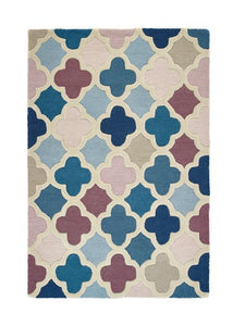Trellis Collection Pink luxurious rug