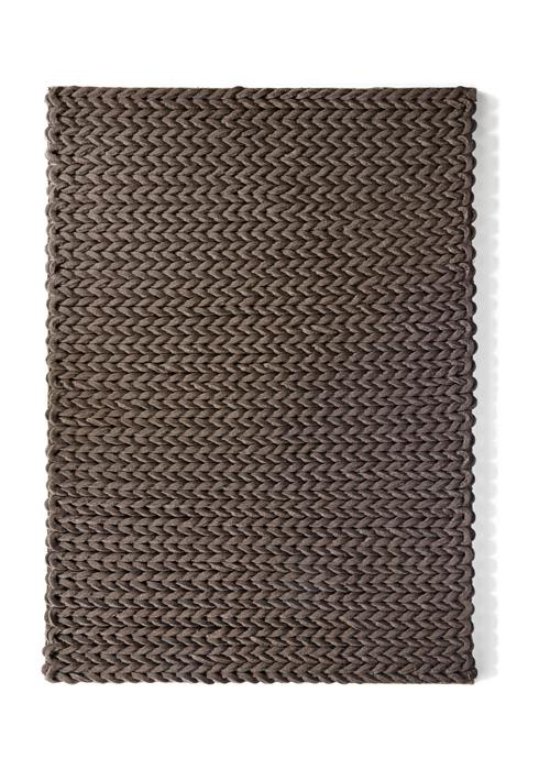 Urbane Collection chocolate luxurious rug